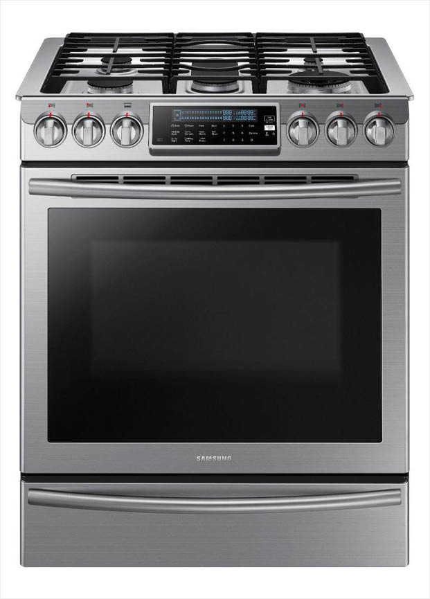 Samsung 30 In 5 8 Cu Ft Slide In Gas Range With Self