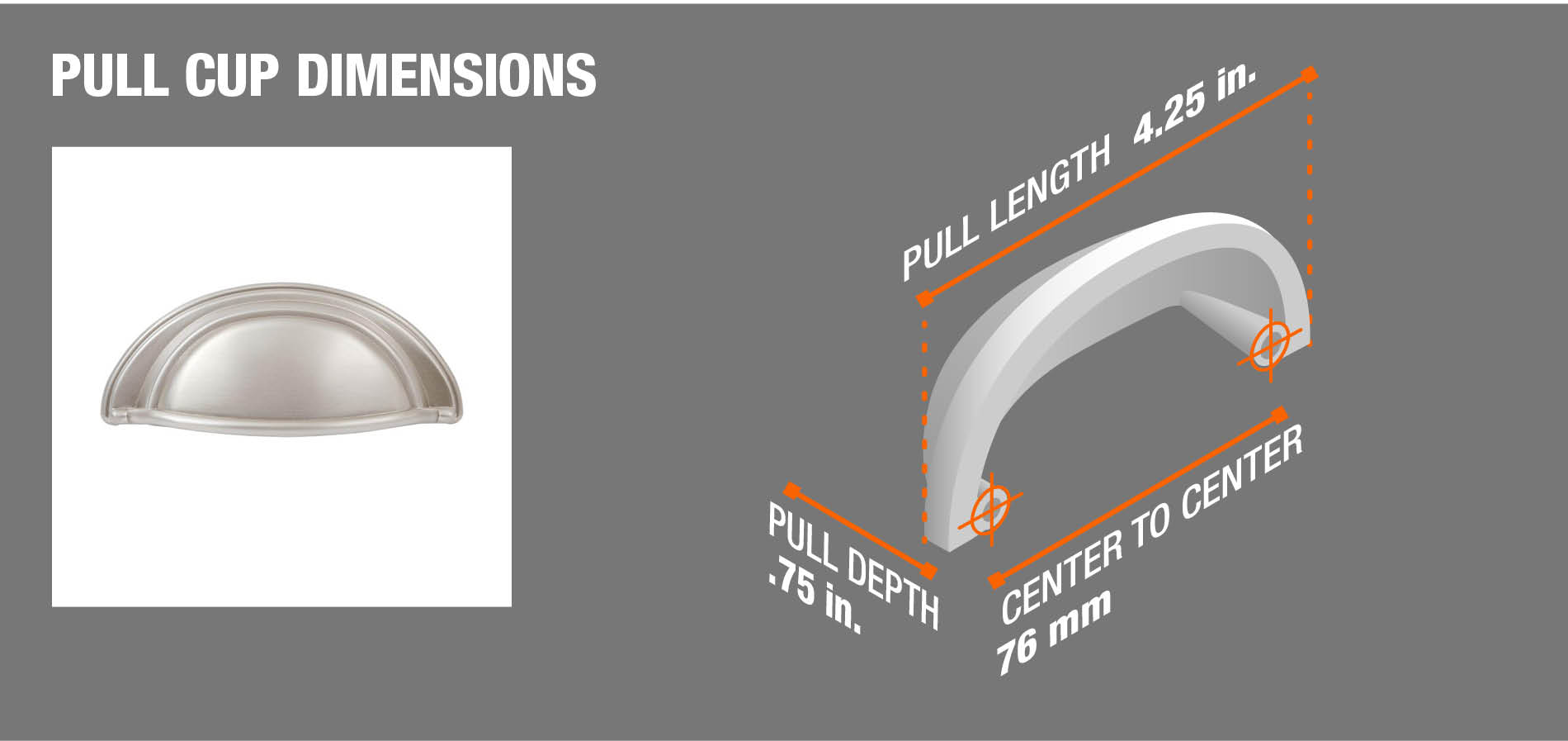 Pull Cup Dimensions