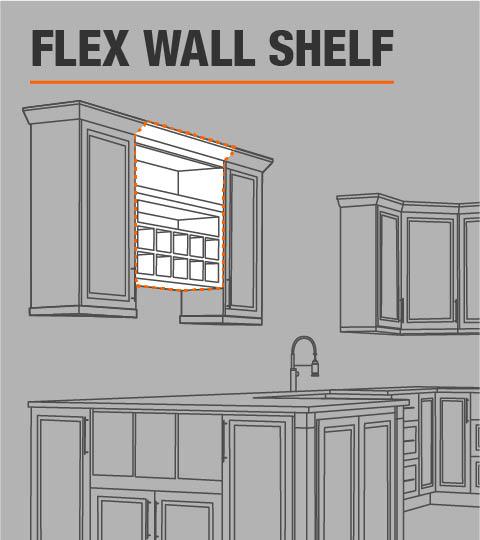 Flexible Garage Wall Storage: Hampton Bay Hampton Assembled 30x18x12 In. Wall Flex