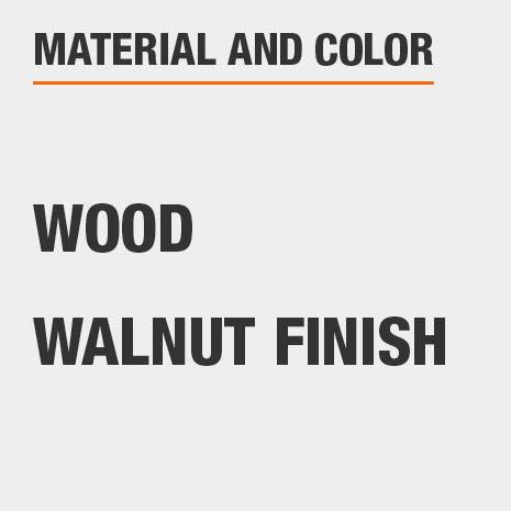 Walnut Finish Wood Arm Chair