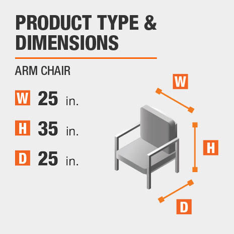 Arm Chair Product Dimensions 25 inches wide 35 inches high