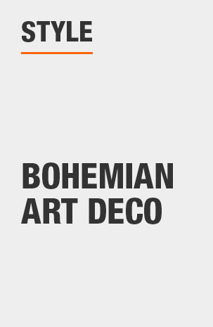 Arm Chair has a Bohemian Art Deco design style