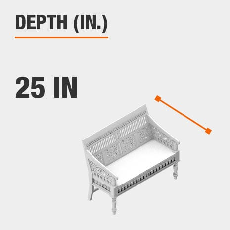 Depth 25 inches