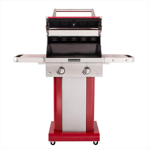 Superb Kitchenaid 2 Burner Propane Gas Grill In Red With Grill Cover Download Free Architecture Designs Scobabritishbridgeorg