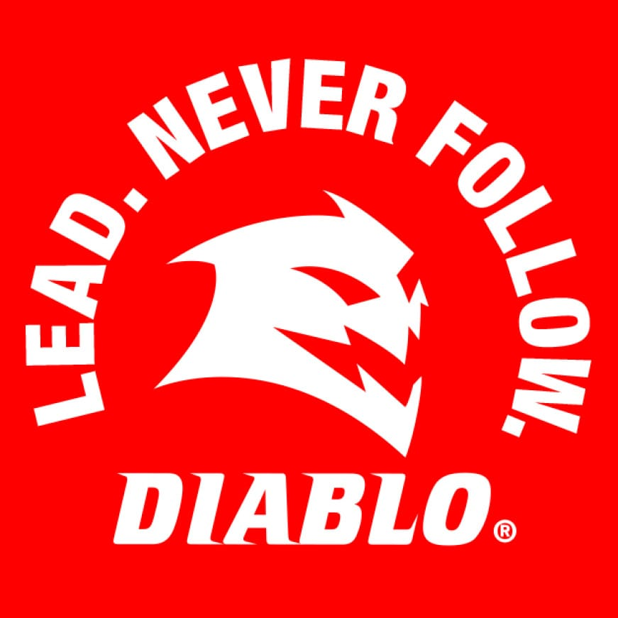 "This is an image of Diablo's ""Lead Never Follow"""