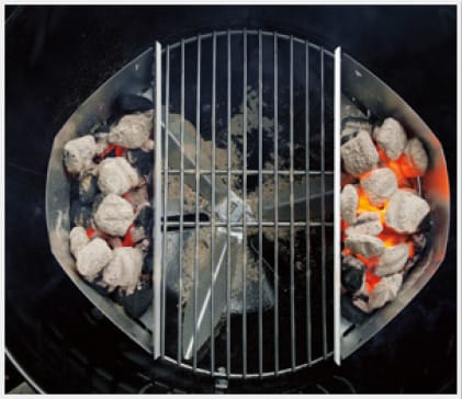 Char-Baskets™ organize charcoal for direct or indirect grilling.