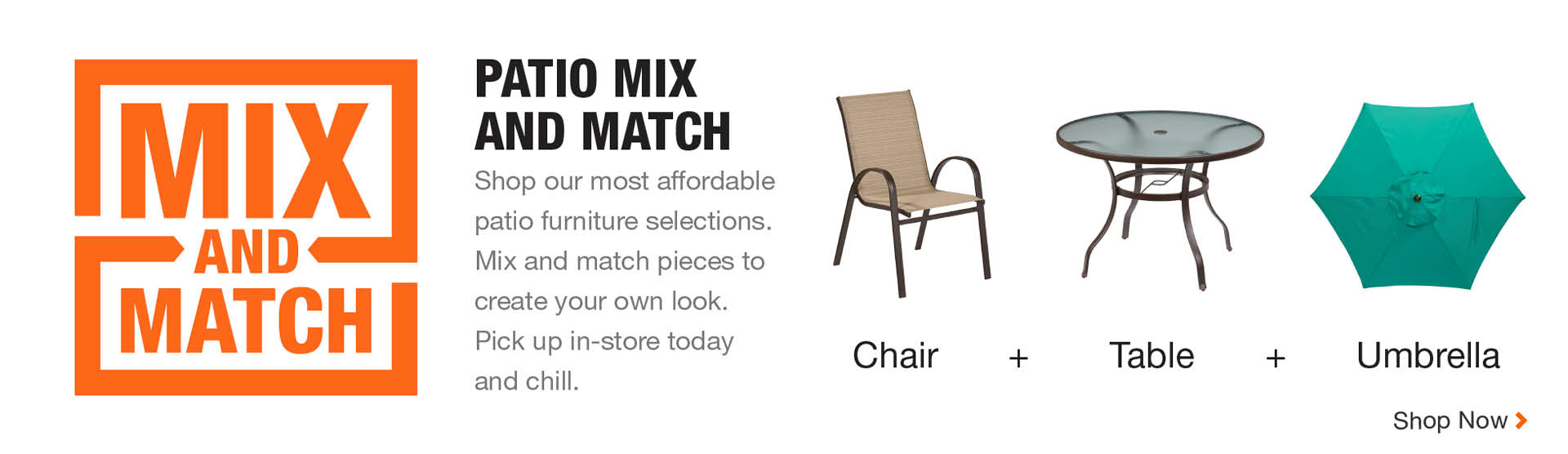 Mix And Match Patio Pieces To Create Your Own Look Total Recommended Area