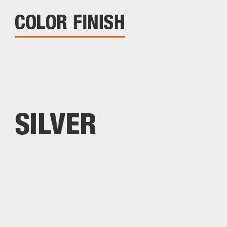 This bathroom vanity mirror color finish is Silver
