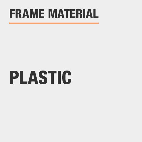 This bathroom vanity mirror frame material is Plastic