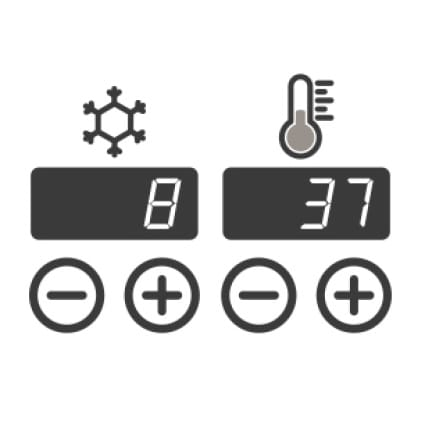 An icon of the temperature controls
