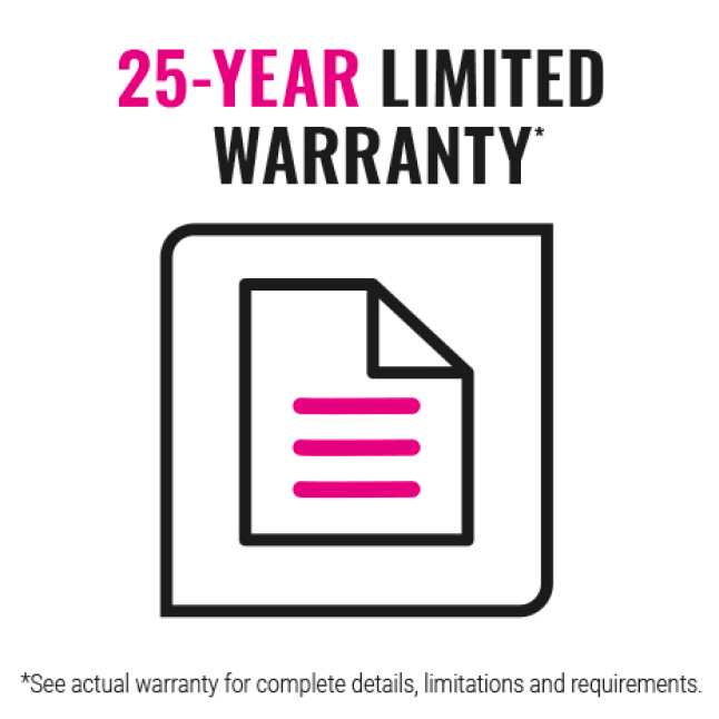 25 year limited warranty icon
