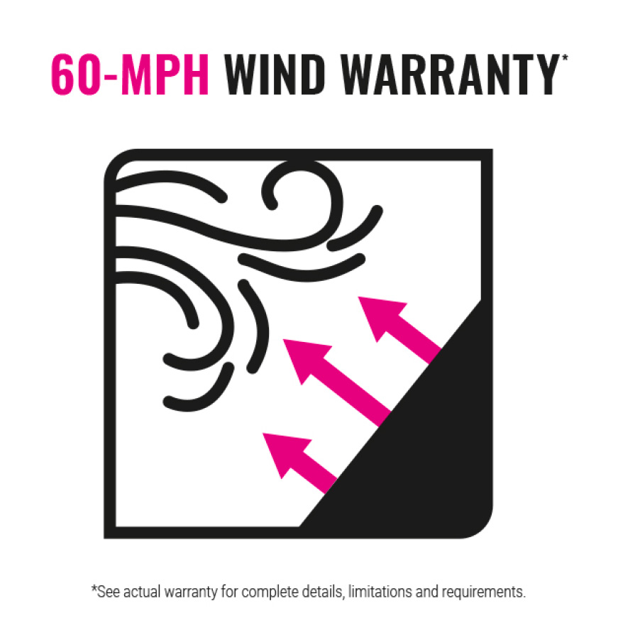 60 MPH Wind Warranty Icon