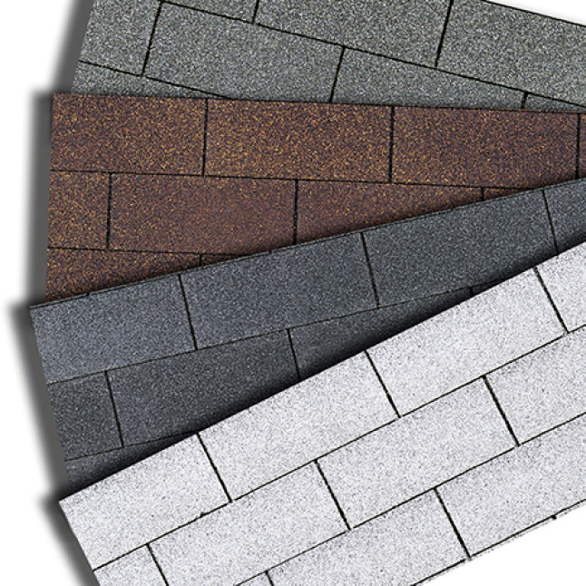 Assortment of four colors of Supreme Shingles