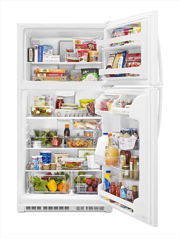 Whirlpool 20 5 Cu Ft Top Freezer Refrigerator In White