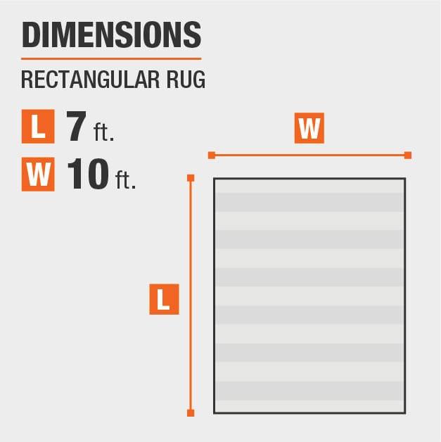 Ethereal Shag Grey 7 ft. x 10 ft. Indoor Area Rug is 7 feet by 10 feet