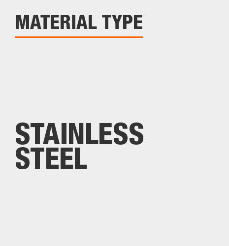 Sink material type 304-grade stain and rust resistant stainless steel