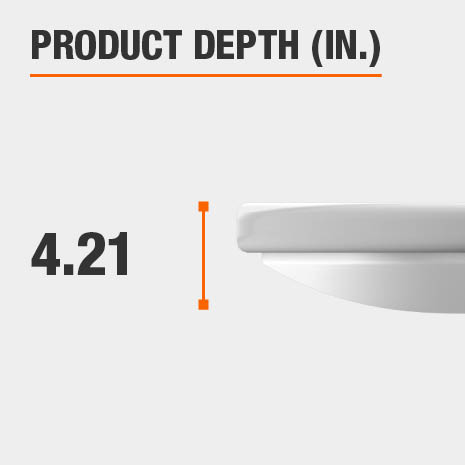 This light fixture has a depth of 4.21 inches.