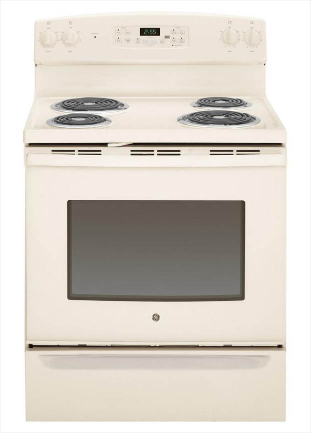 Ge 50 Cu Ft Electric Range With Self Cleaning Oven In Bisque