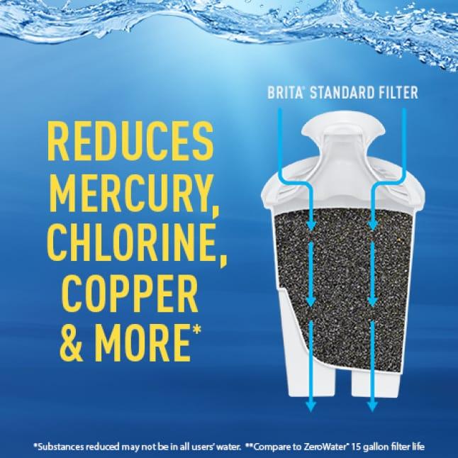 Brita Standard Filter reduces impurities.