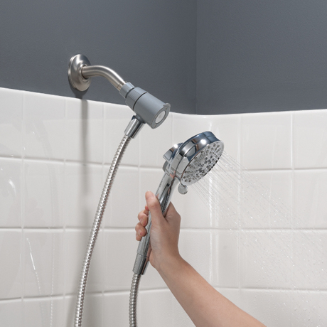 Installs On Existing Shower Arm