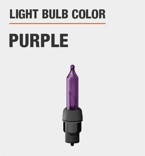 Light bulb color is purple