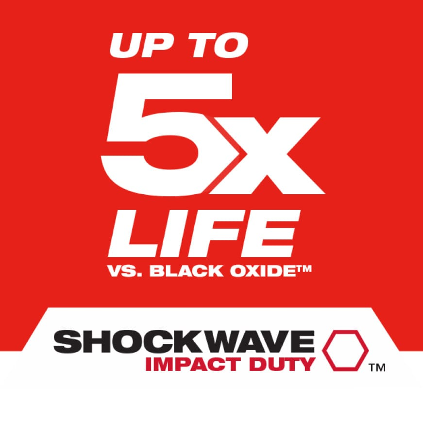 Our Shockwave Lineup of products are designed for use with impact drivers and drill drivers.