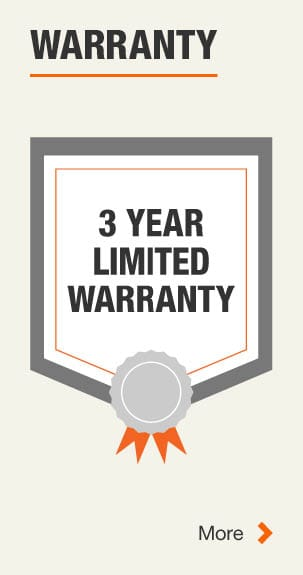 3 Year Manufacturer Warranty. Click for more Information.