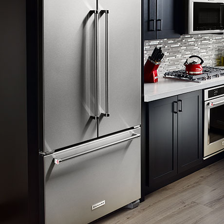 Kitchenaid 20 Cu Ft French Door Refrigerator In