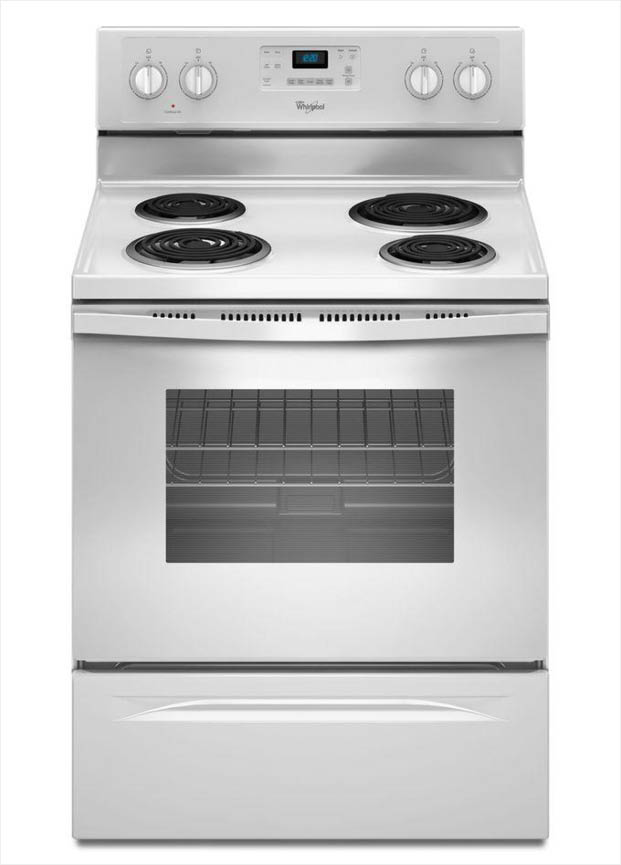 Whirlpool 30 in 48 cu ft electric range with self cleaning oven detail image fandeluxe Images
