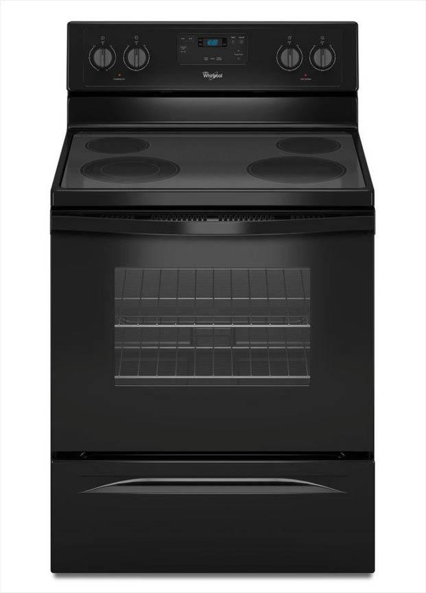Whirlpool 30 In 4 8 Cu Ft Electric Range In Black