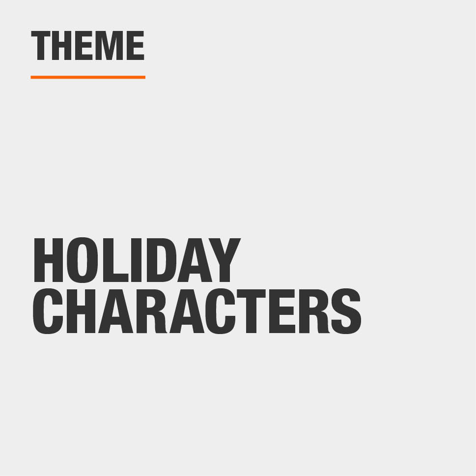 Item Theme is Holiday Characters