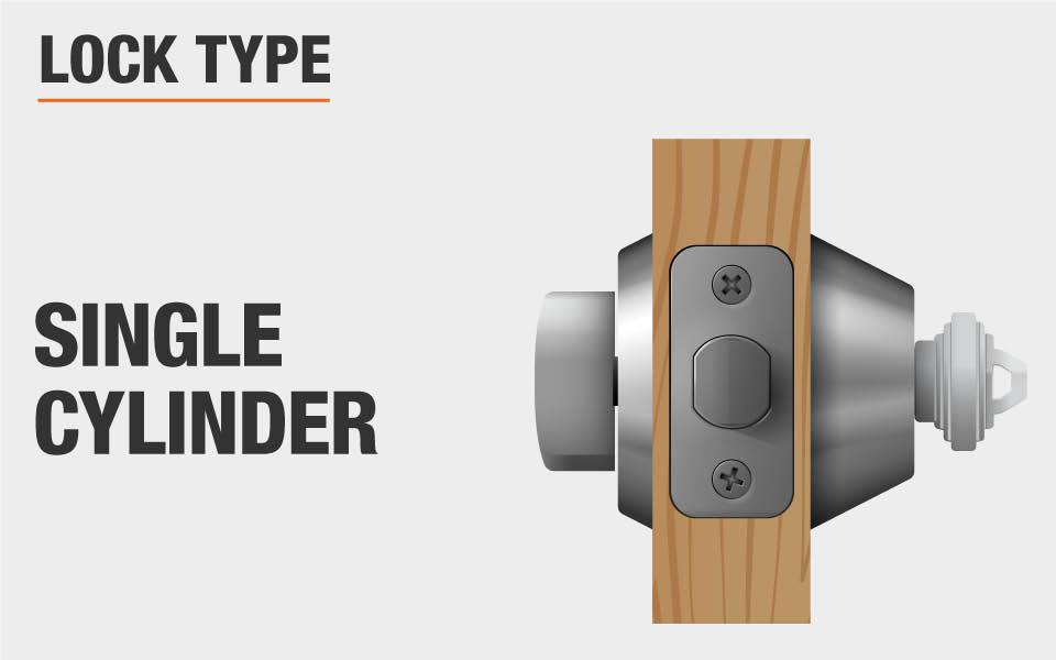 Defiant Single Cylinder Satin Nickel Castle Electronic