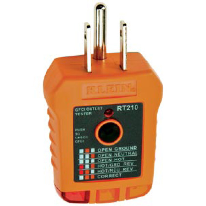 RT210 GFCI Receptacle Tester