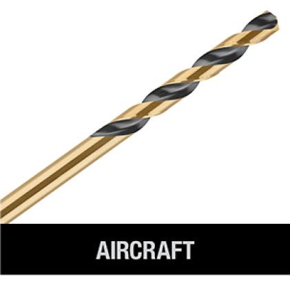 205952637 DWA1184 Black and Gold Drill Bit Set (14-Piece) AIRCRAFT