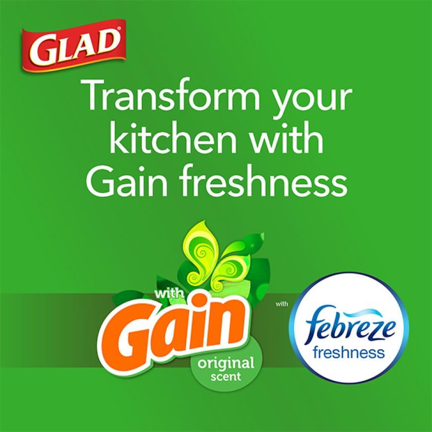 Transform your kitchen with Gain freshness.