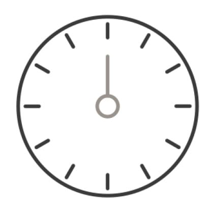 An icon of a timer's face.