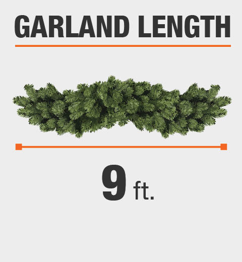The Garland Length is 9 ft.