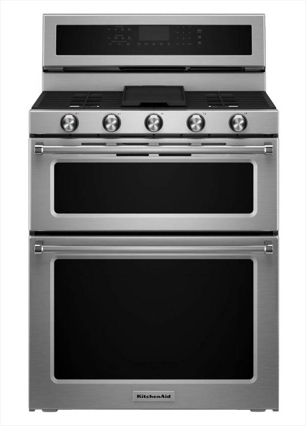 Kitchenaid 6 7 Cu Ft Double Oven Dual Fuel Range With