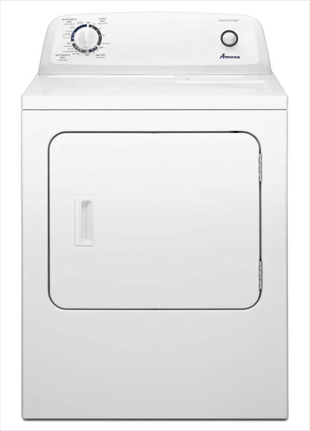 Amana 65 cu ft 240Volt White Electric Vented Dryer with Wrinkle