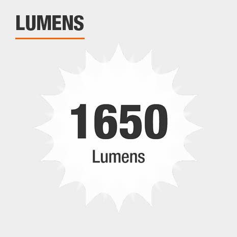 This light has a brightness of 1650 lumens.
