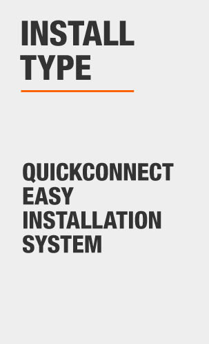 glacier bay Quickconnect easy installation system