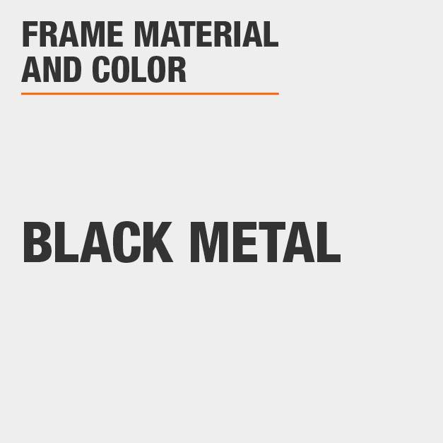Bar Stool with Black Metal Frame