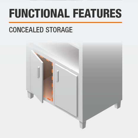 Cabinet with Concealed Storage