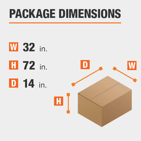 Cabinet Package Dimensions 32 inches wide 14 inches high
