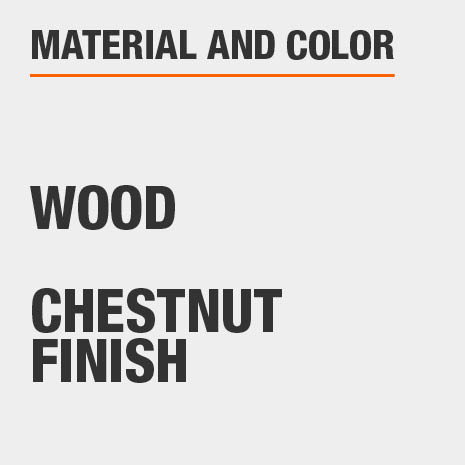 Chestnut Finish Wood File Cabinet