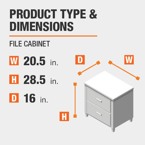 File Cabinet Product Dimensions 20.5 inches wide 28.5 inches high
