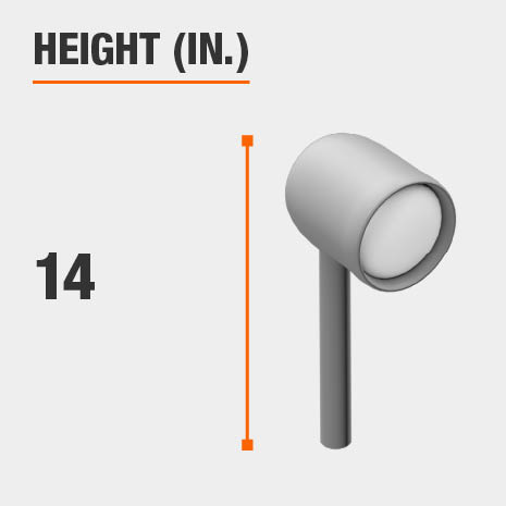 This light's height is 14 inches.