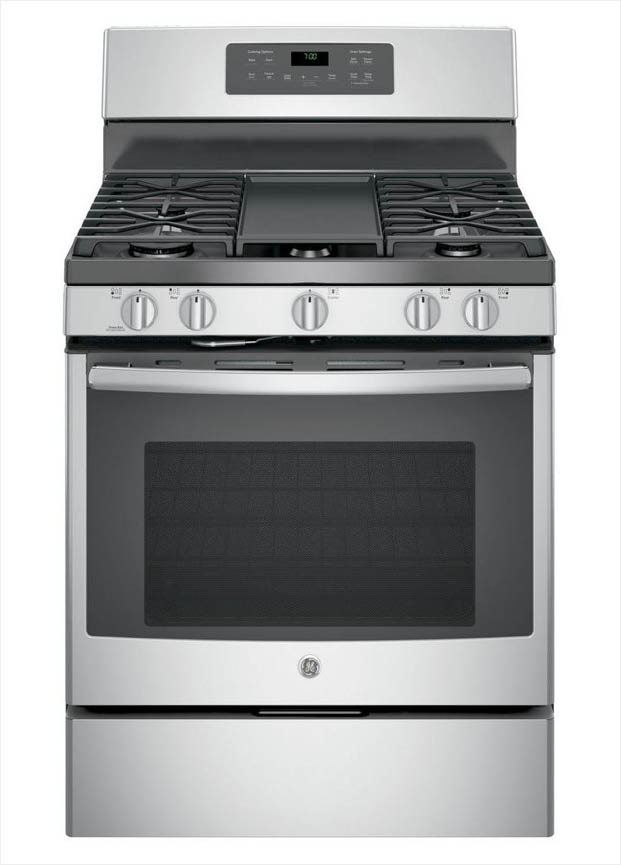 Ge 5 0 Cu Ft Gas Range With Self Cleaning Convection