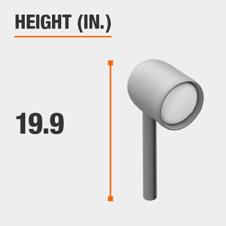 This light's height is 19.9 inches.