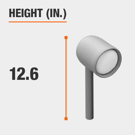 This light's height is 12.6 inches.